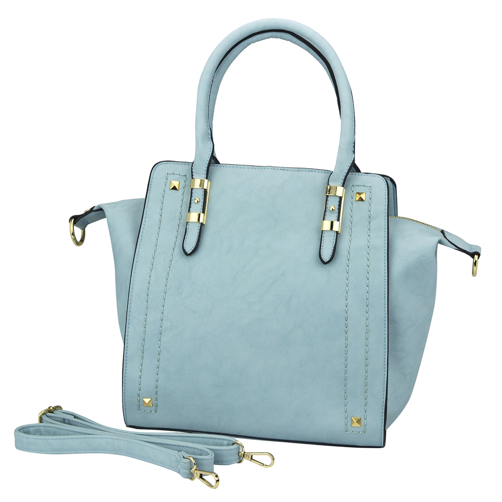 LEA Blue Top Handle Office Tote Purse main