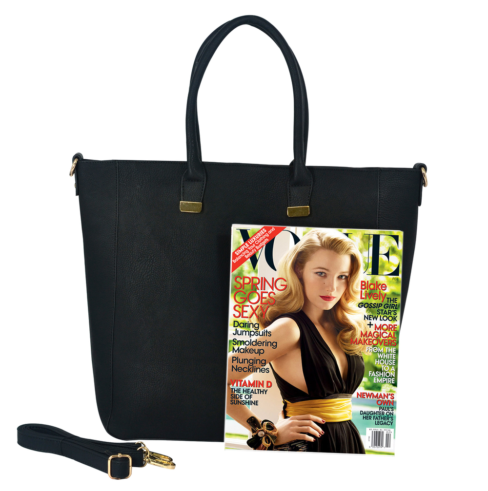 PENELOPE Black Bucket Shopper Tote Purse Size