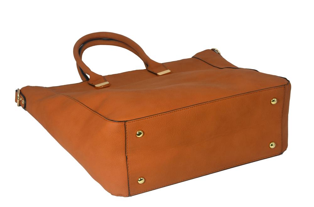PENELOPE Brown Bucket Shopper Tote Purse Bottom