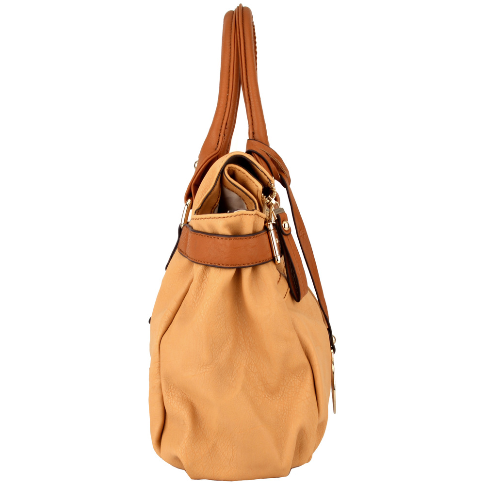 GABBY Tan Shopper Hobo Handbag Side