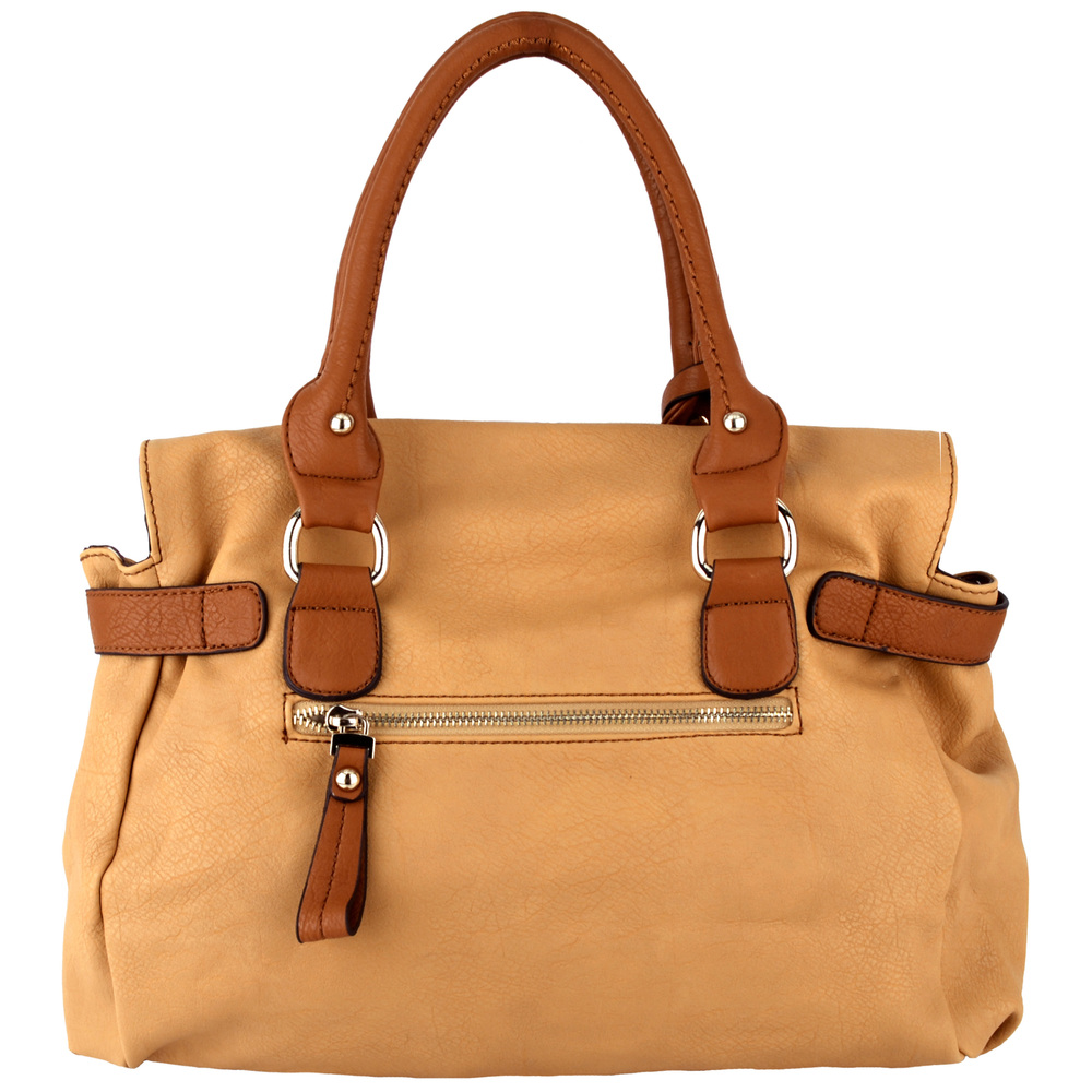 GABBY Tan Shopper Hobo Handbag back
