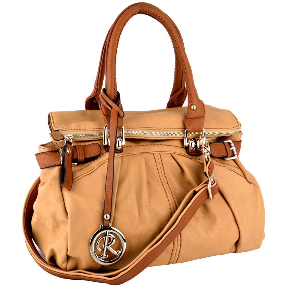 GABBY Tan Shopper Hobo Handbag Main