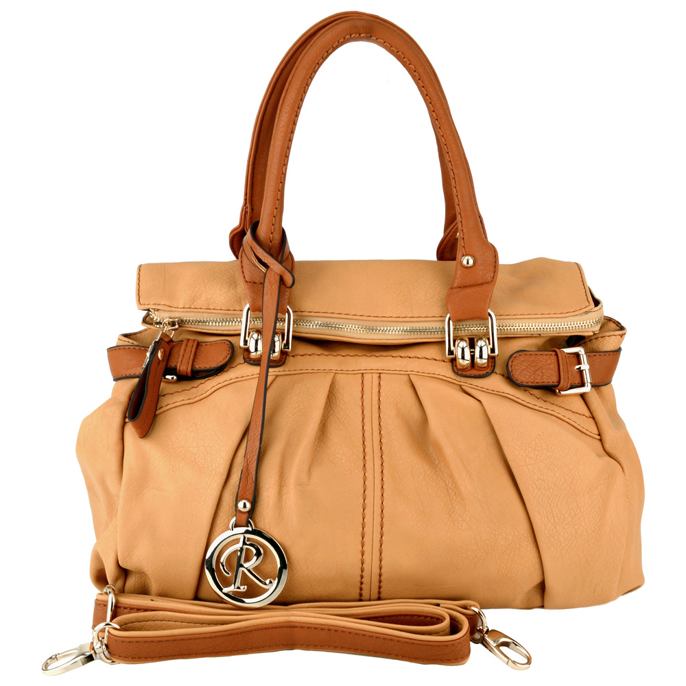 GABBY Tan Shopper Hobo Handbag Front