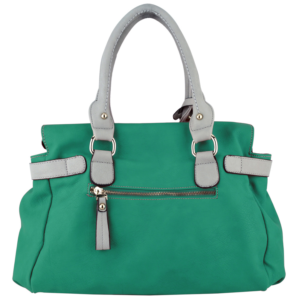 GABBY Teal Shopper Hobo Handbag Back