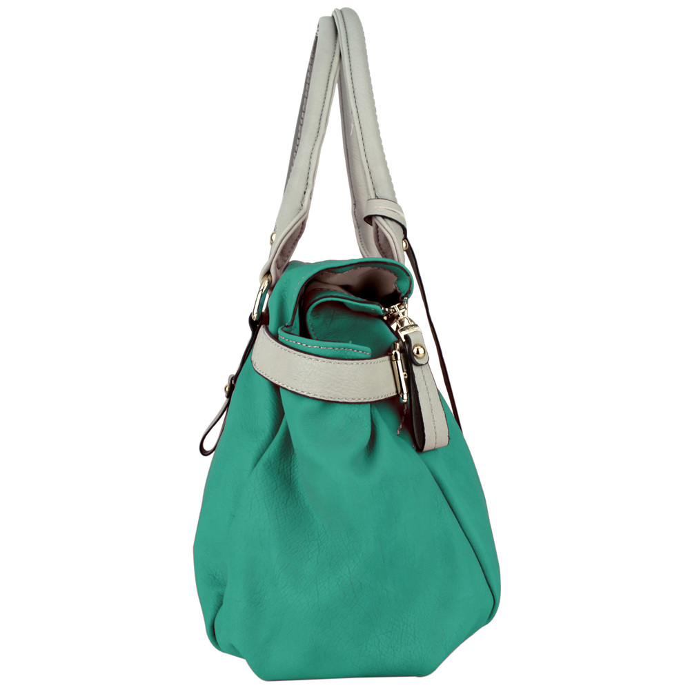 GABBY Teal Shopper Hobo Handbag Side