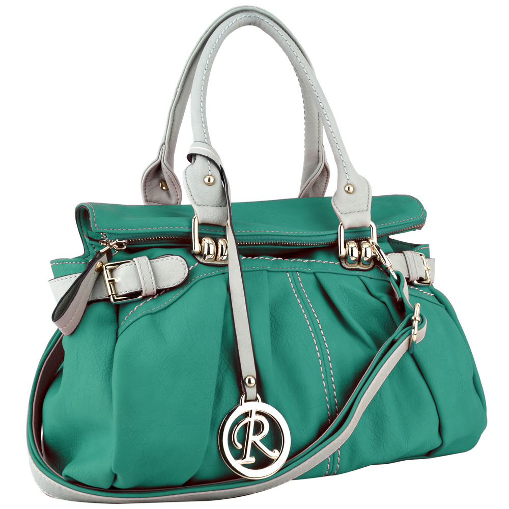GABBY Teal Shopper Hobo Handbag Main