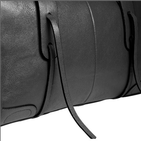 Jazzelle black classic shoulder handbag closeup image