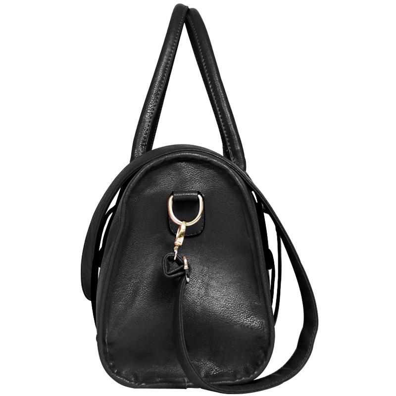 Jazzelle black classic shoulder handbag side image