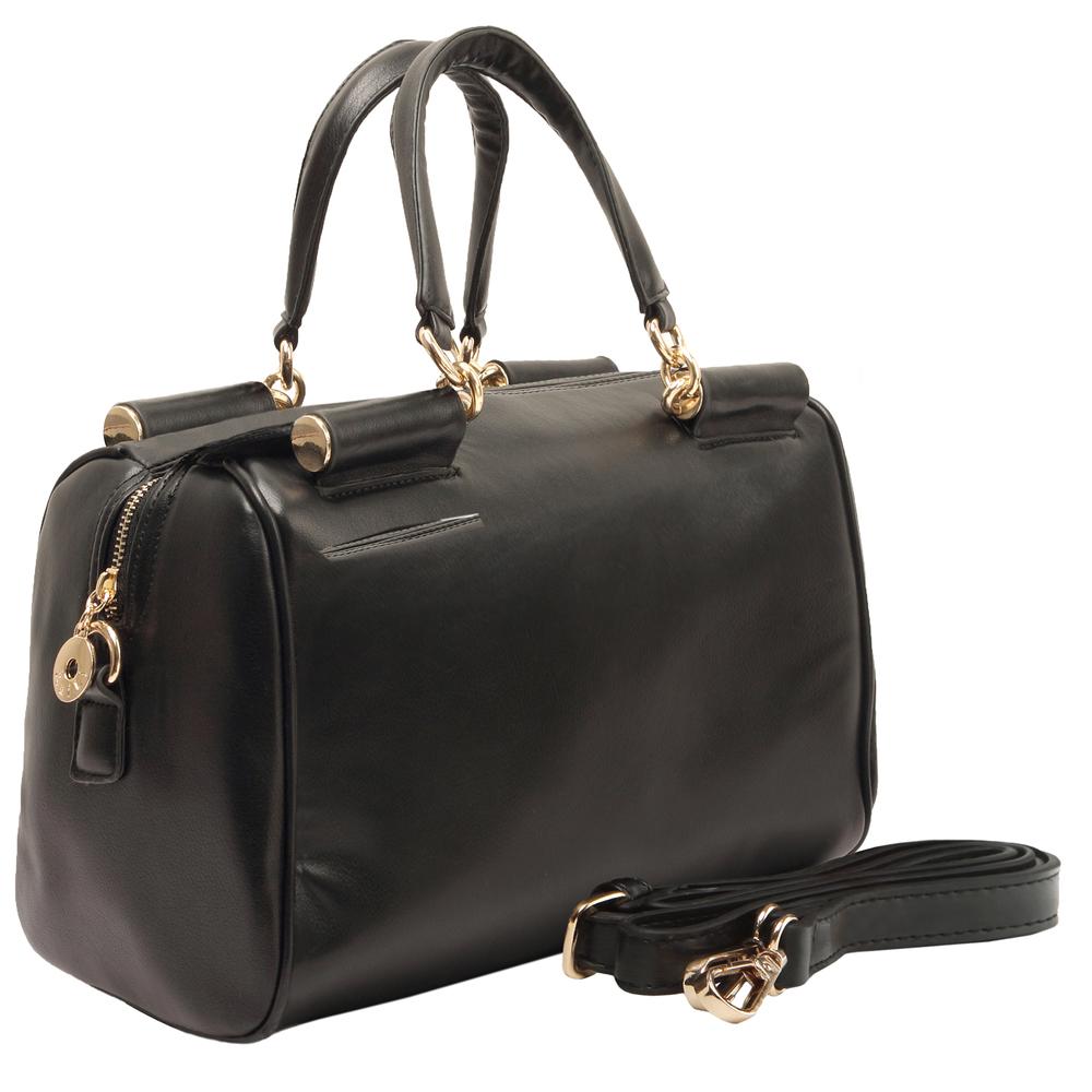 Cierra black doctor style handbag main image