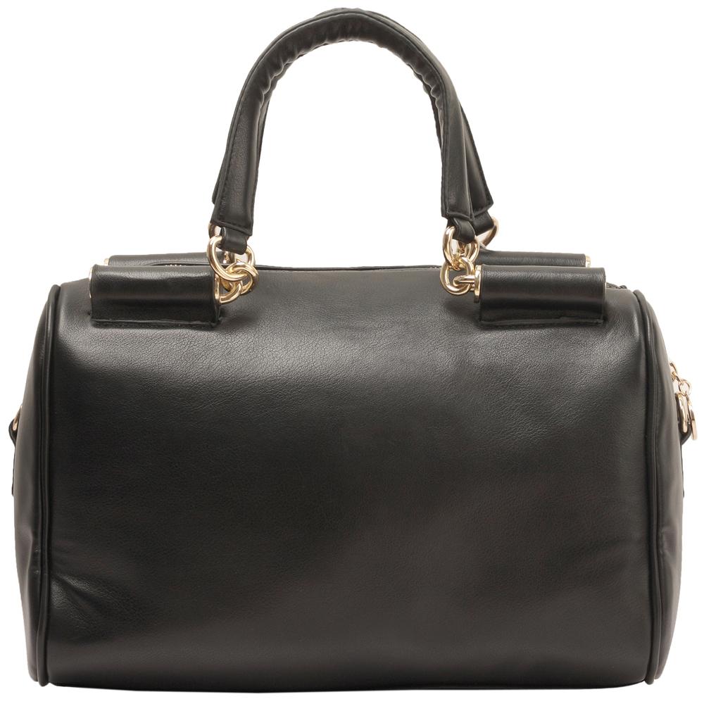 Cierra black doctor style handbag front image
