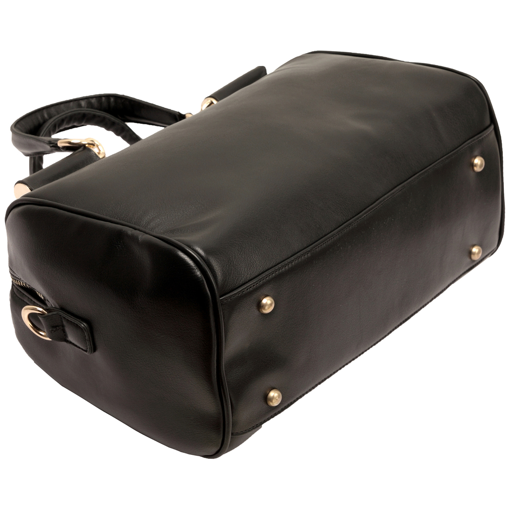 Cierra black doctor style handbag bottom image