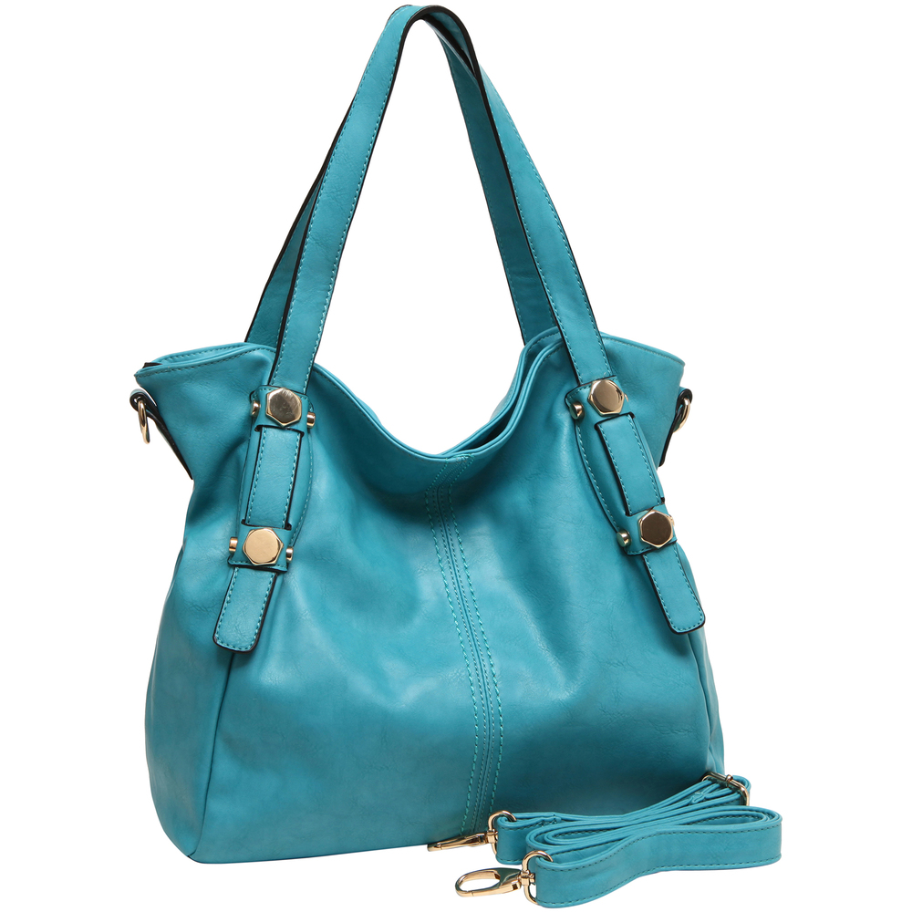 Casie Turquoise Slouchy Tote Handbag Main image