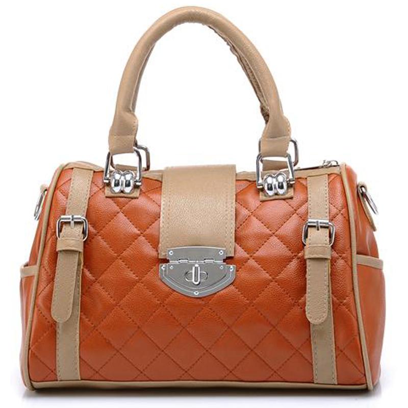 KARASI Brown Quilted Tote Handbag Front Image