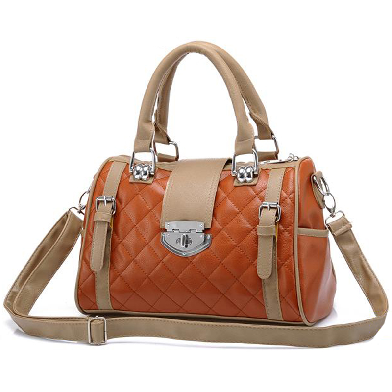 KARASI Brown Quilted Tote Handbag Main Image