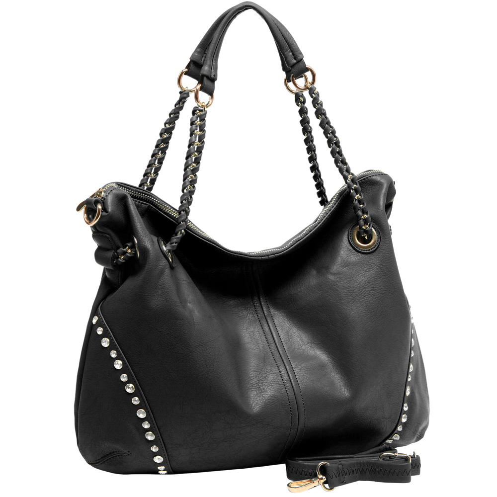 Regina Black Hobo Style Shopper Tote main image