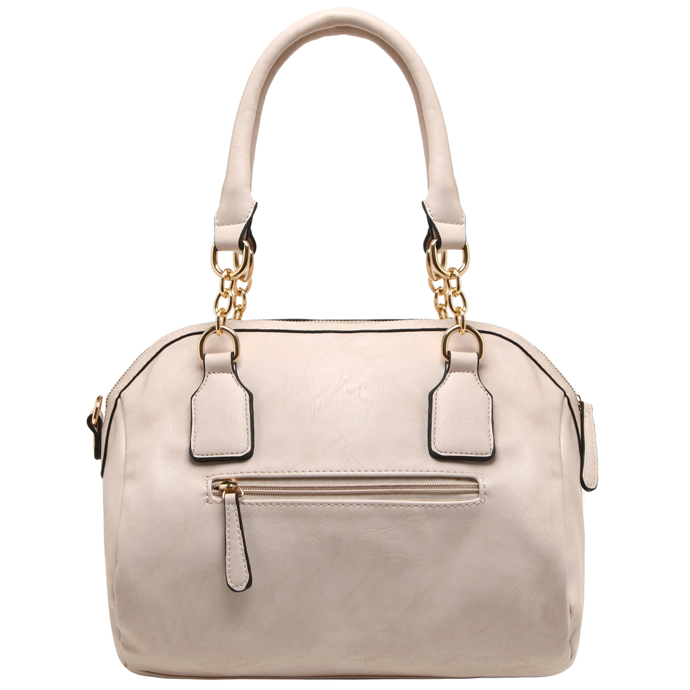 SONIA Beige Barrel Top Handle Tote handbag back image