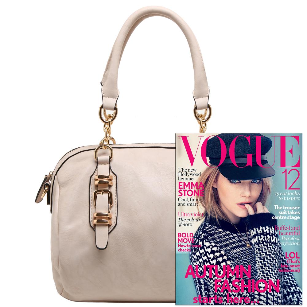 SONIA Beige Barrel Top Handle Tote handbag size comparison image