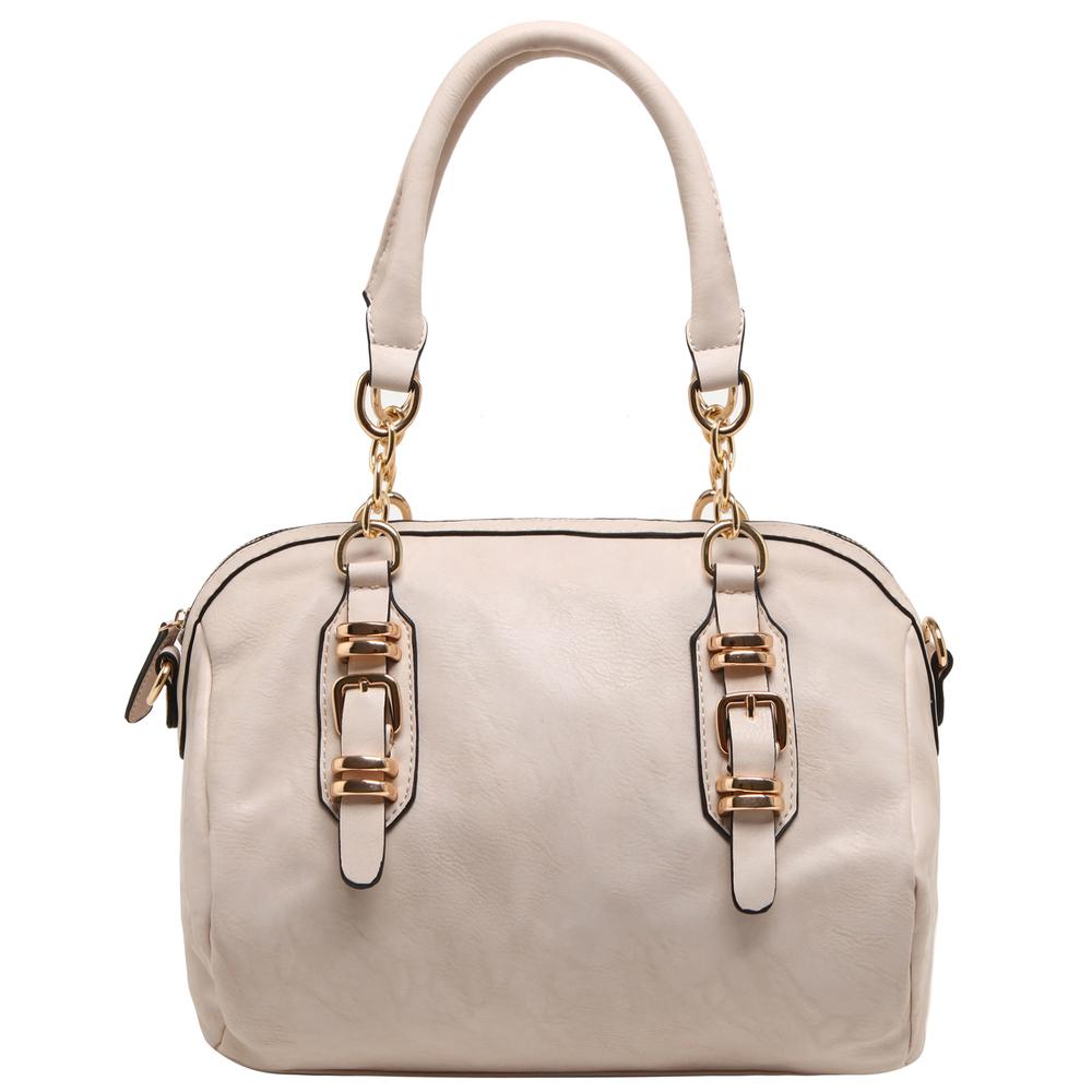 SONIA Beige Barrel Top Handle Tote handbag front image