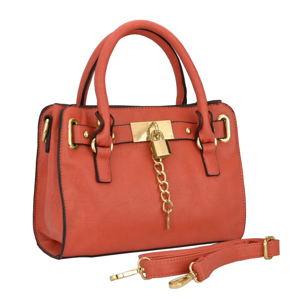 NERYS coral top handle tote purse main image