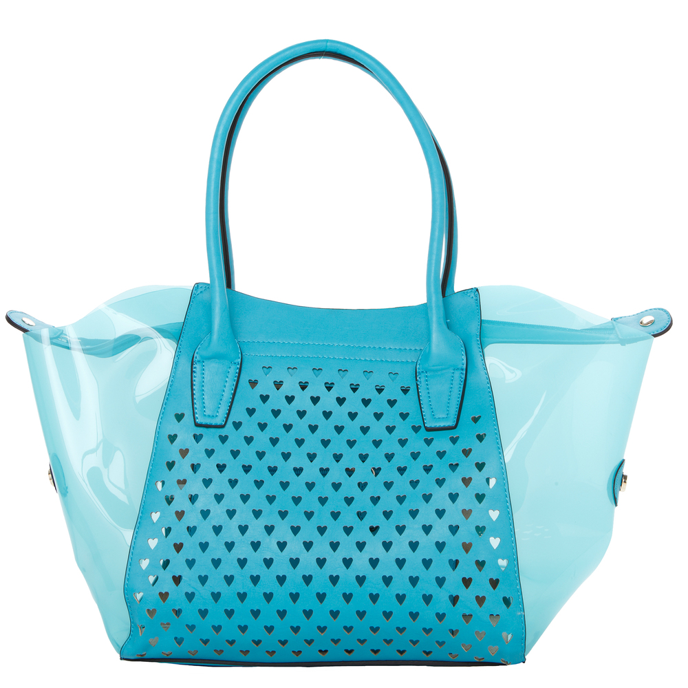 Lara blue 2 in 1 shopper tote front image