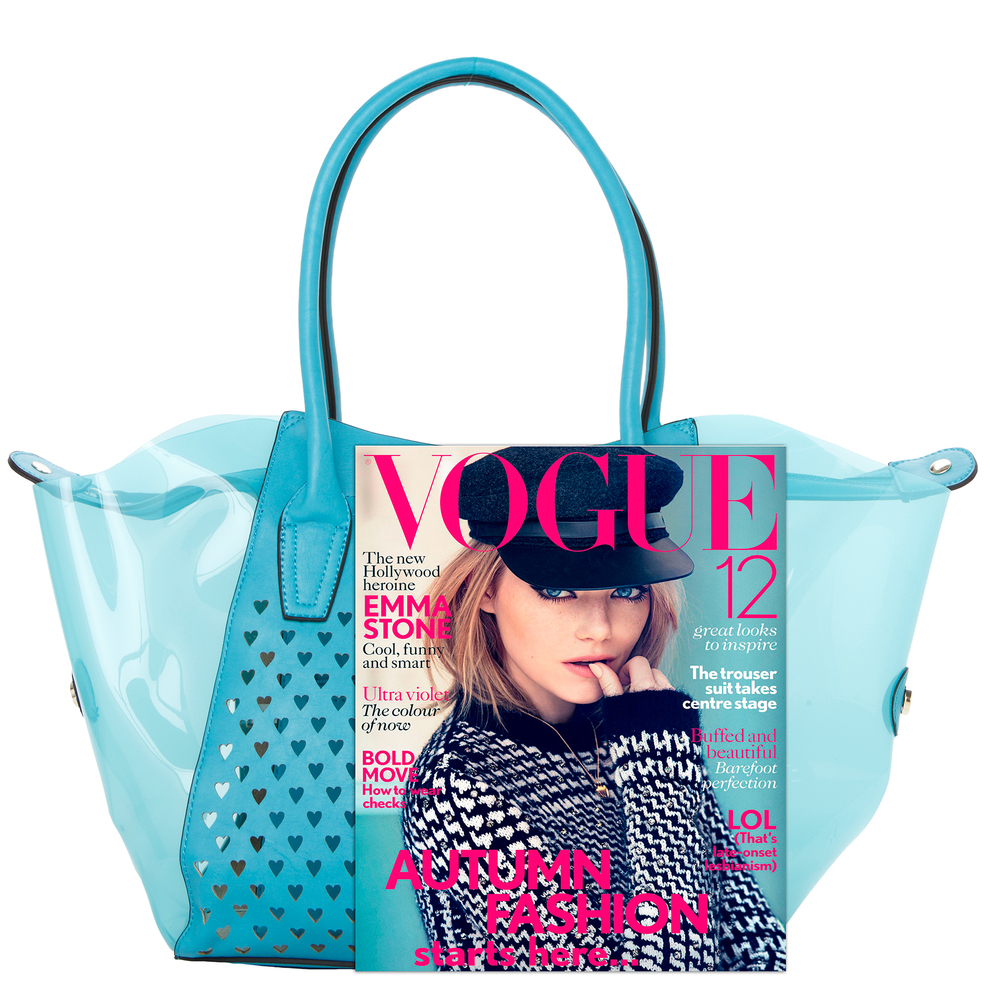 Lara blue 2 in 1 shopper tote size comparison image