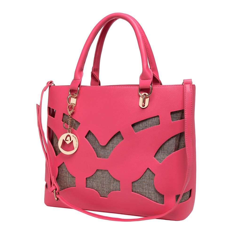 TAYLA Pink Fashion Tote angled image