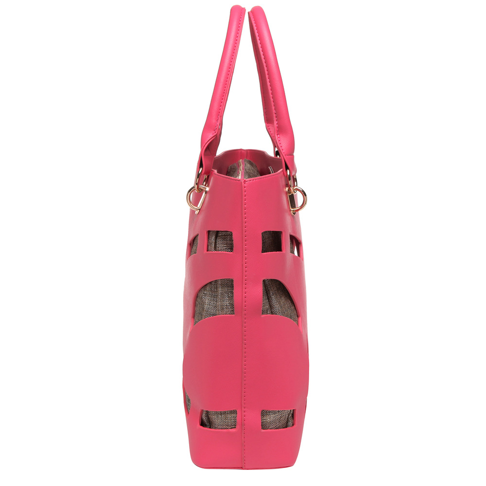 TAYLA Pink Fashion Tote side image