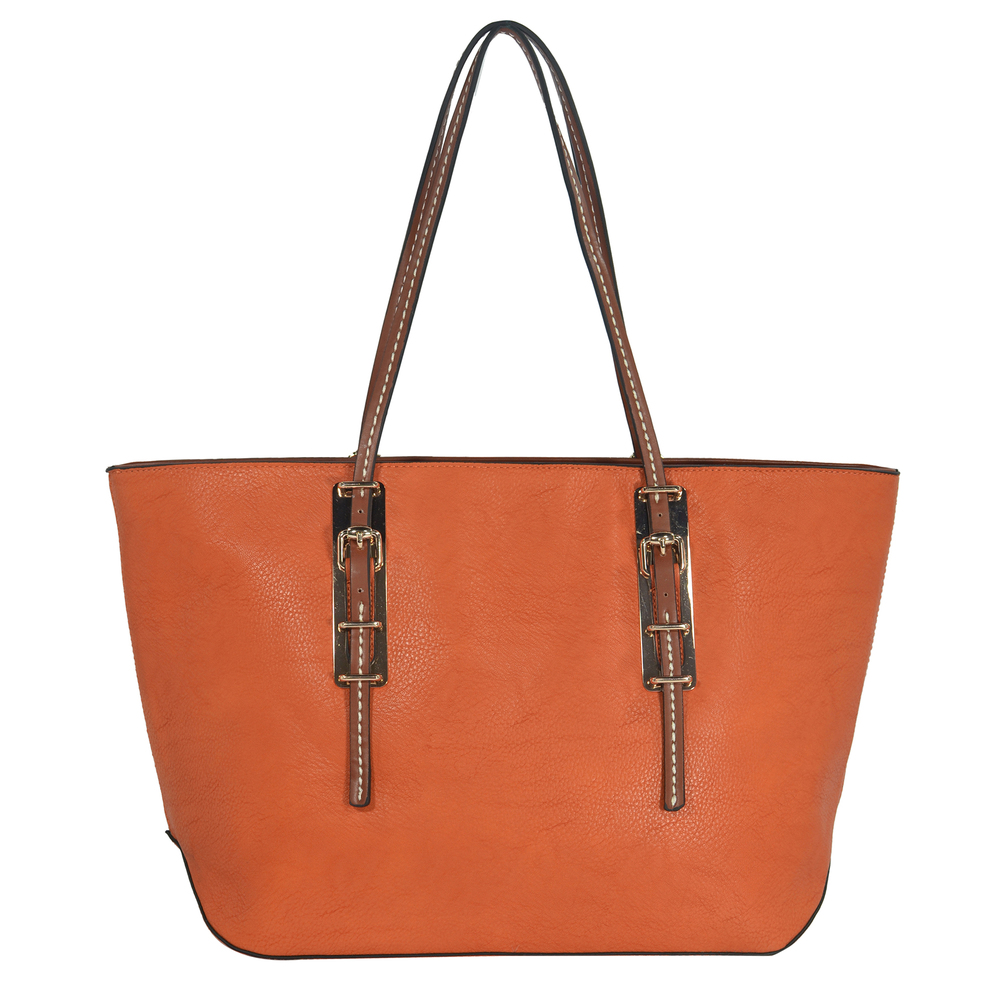 sabrina orange womens designer inspired shopper tote front image
