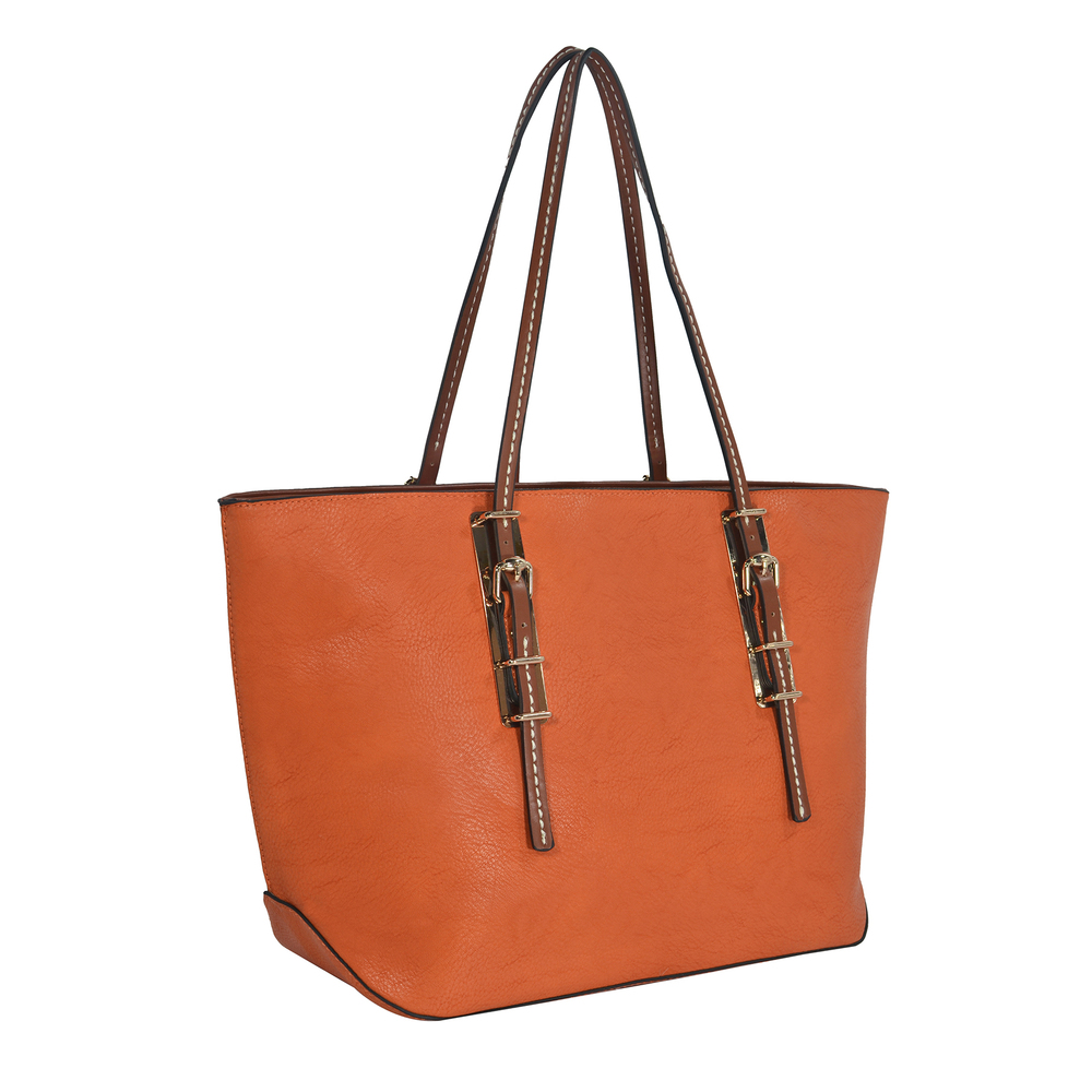 sabrina orange womens designer inspired shopper tote main image
