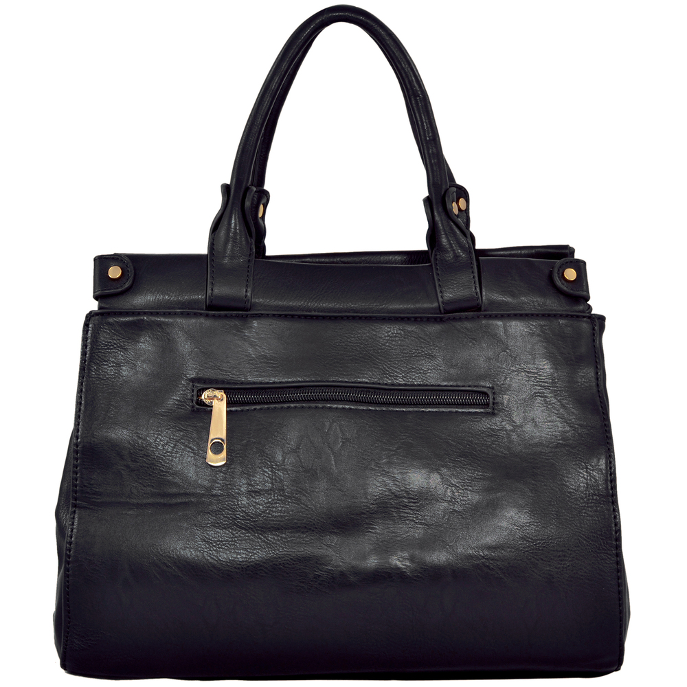 wendy brown satchel style shoulder bag back image