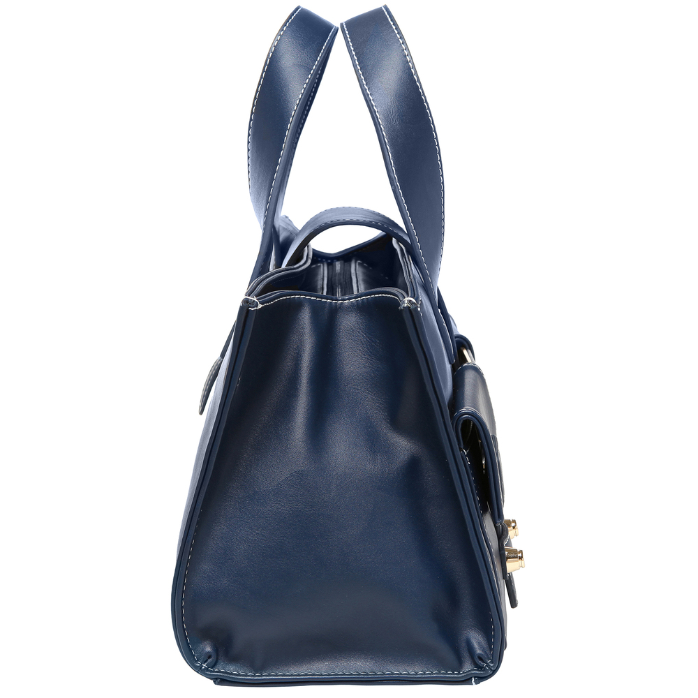 ANNA Oxford Blue Women's Designer Satchel Tote Handbag side image