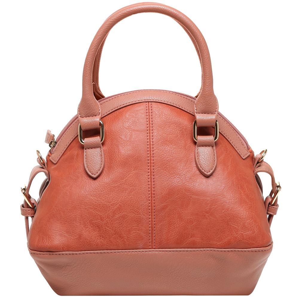 Imani pink quilted bowler designer handbag back image