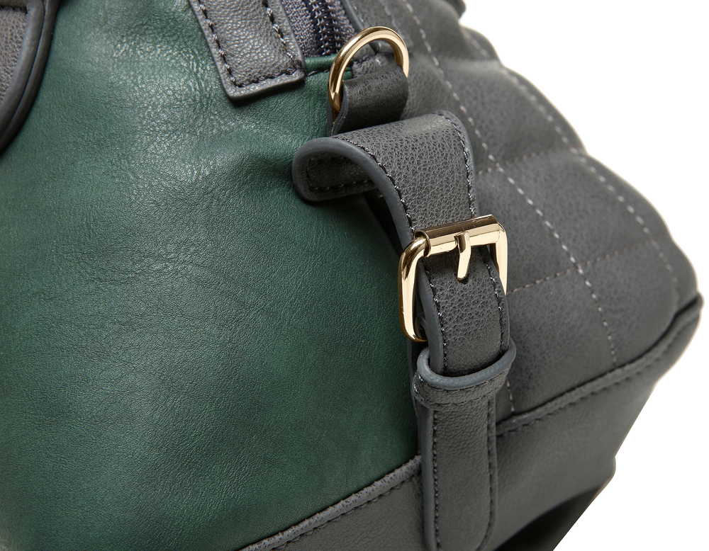 Imani gray womens designer satchel handbag closeup image