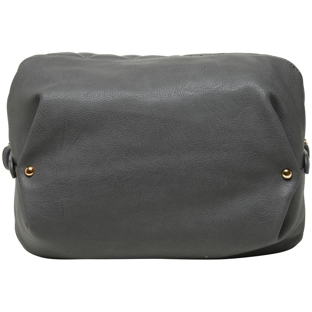 Imani gray womens designer satchel handbag bottom image