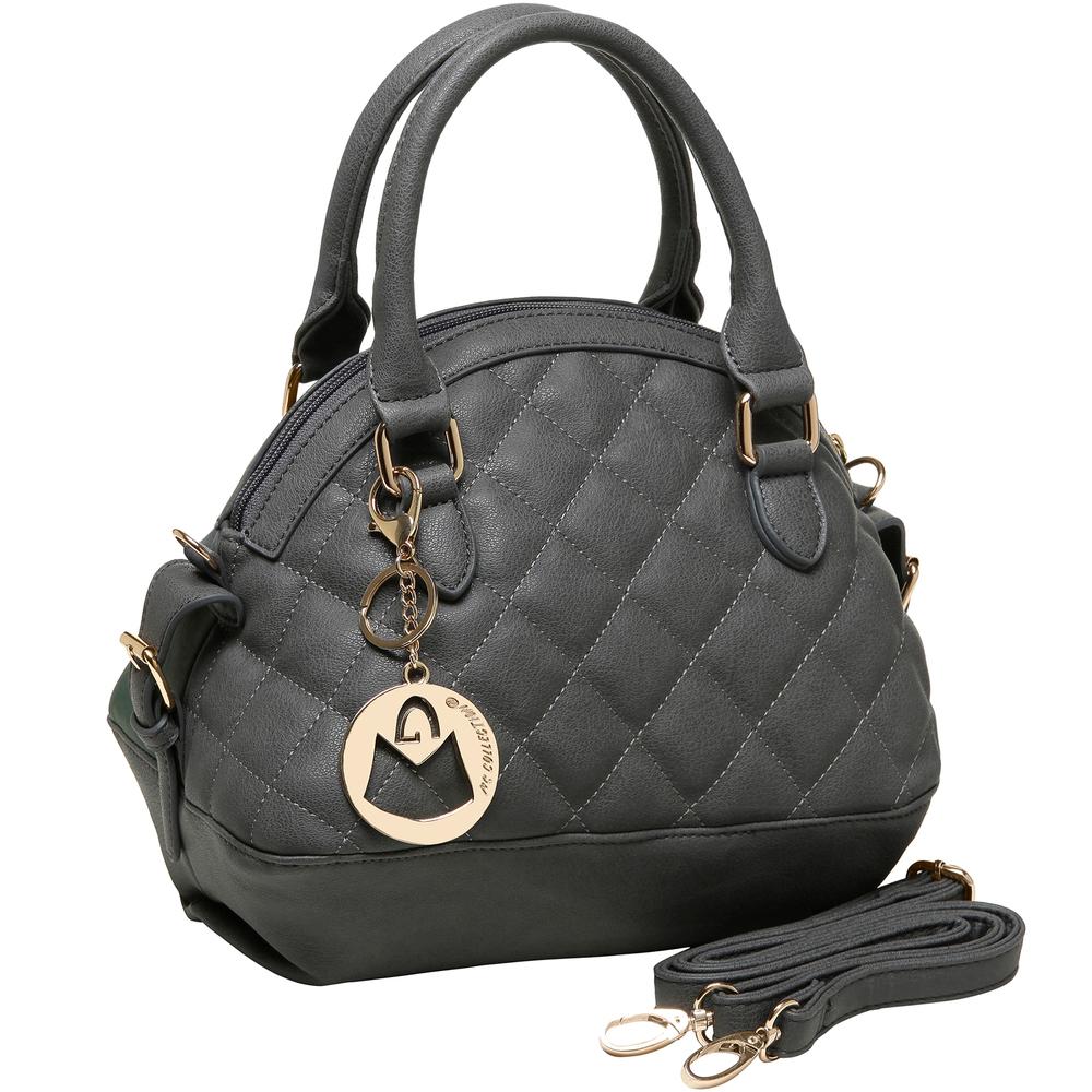 Imani gray womens designer satchel handbag main image