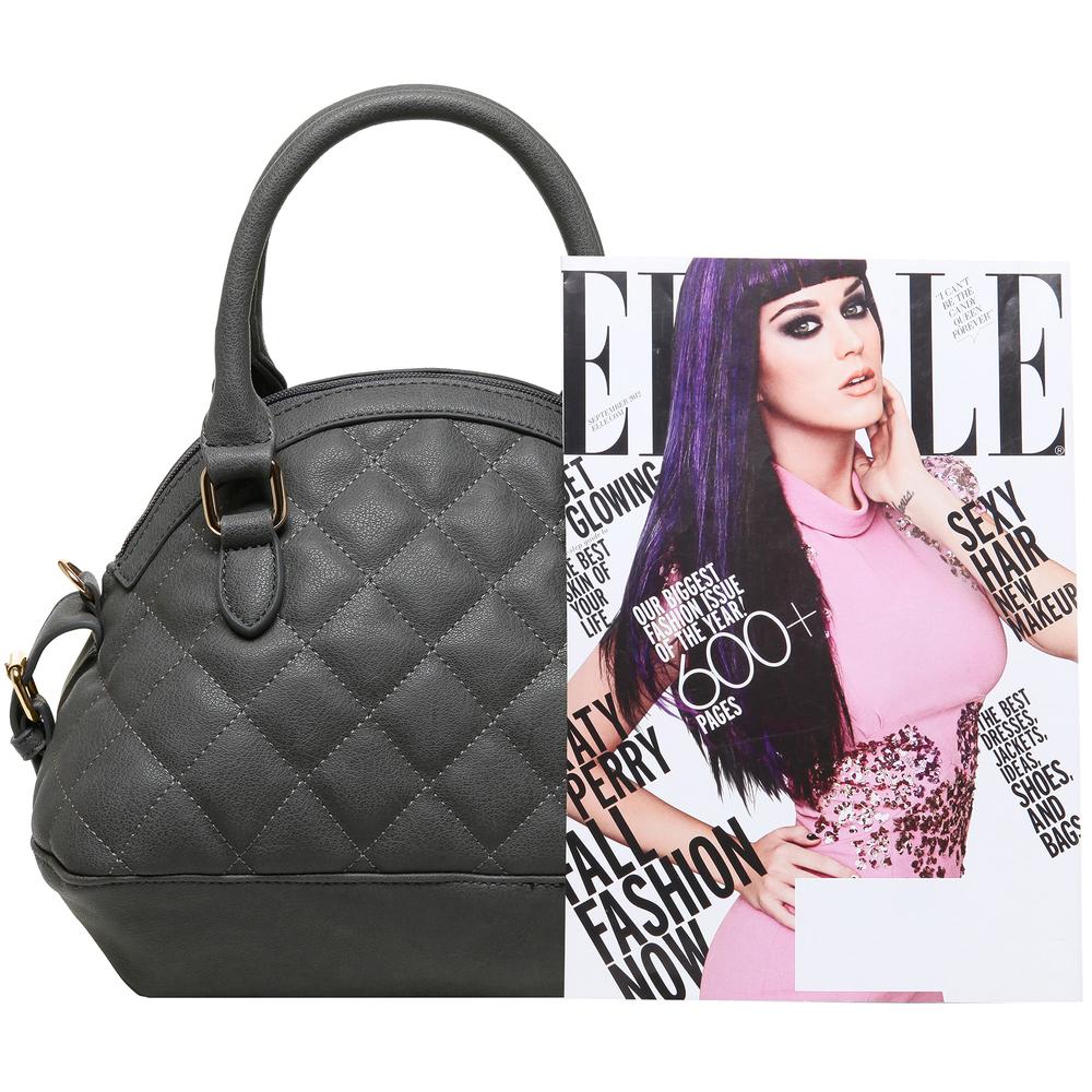 Imani gray womens designer satchel handbag size comparison image