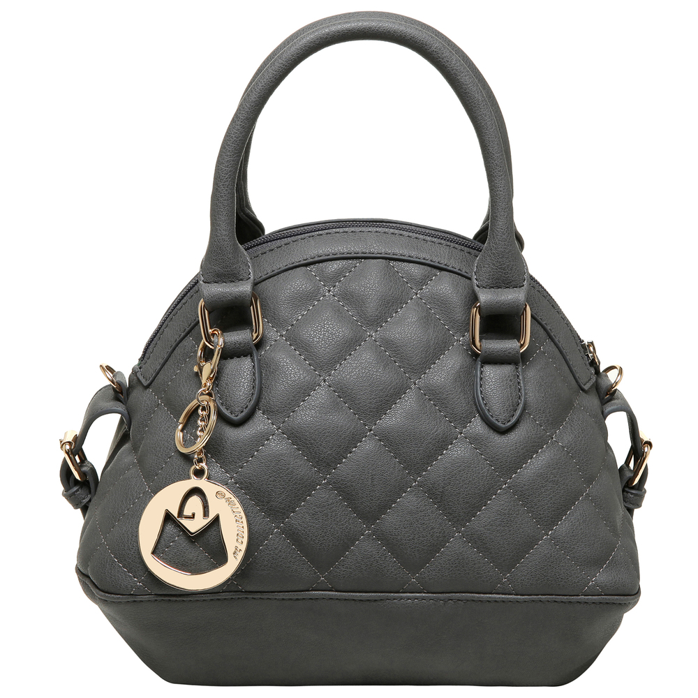 Imani gray womens designer satchel handbag front image
