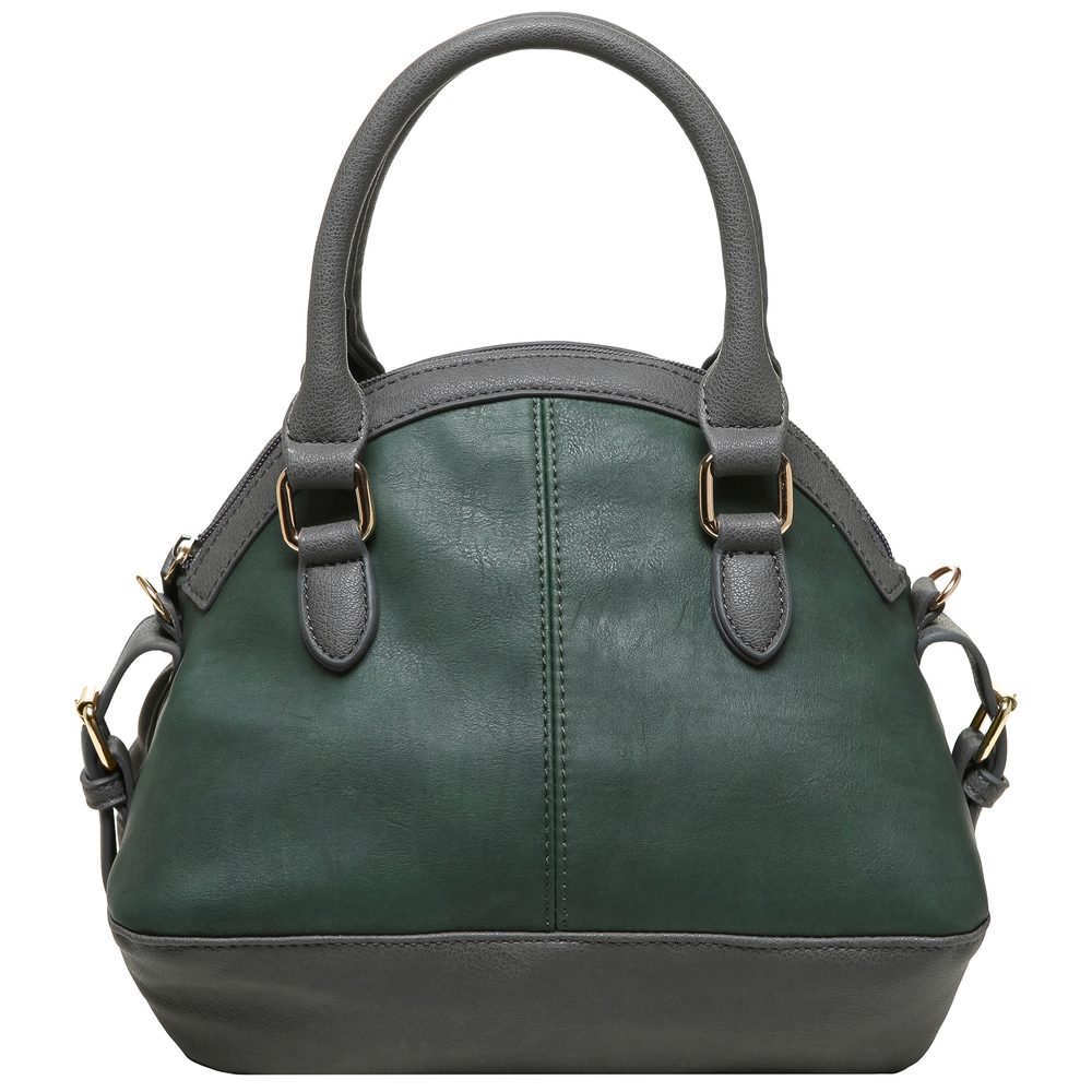Imani gray womens designer satchel handbag back image