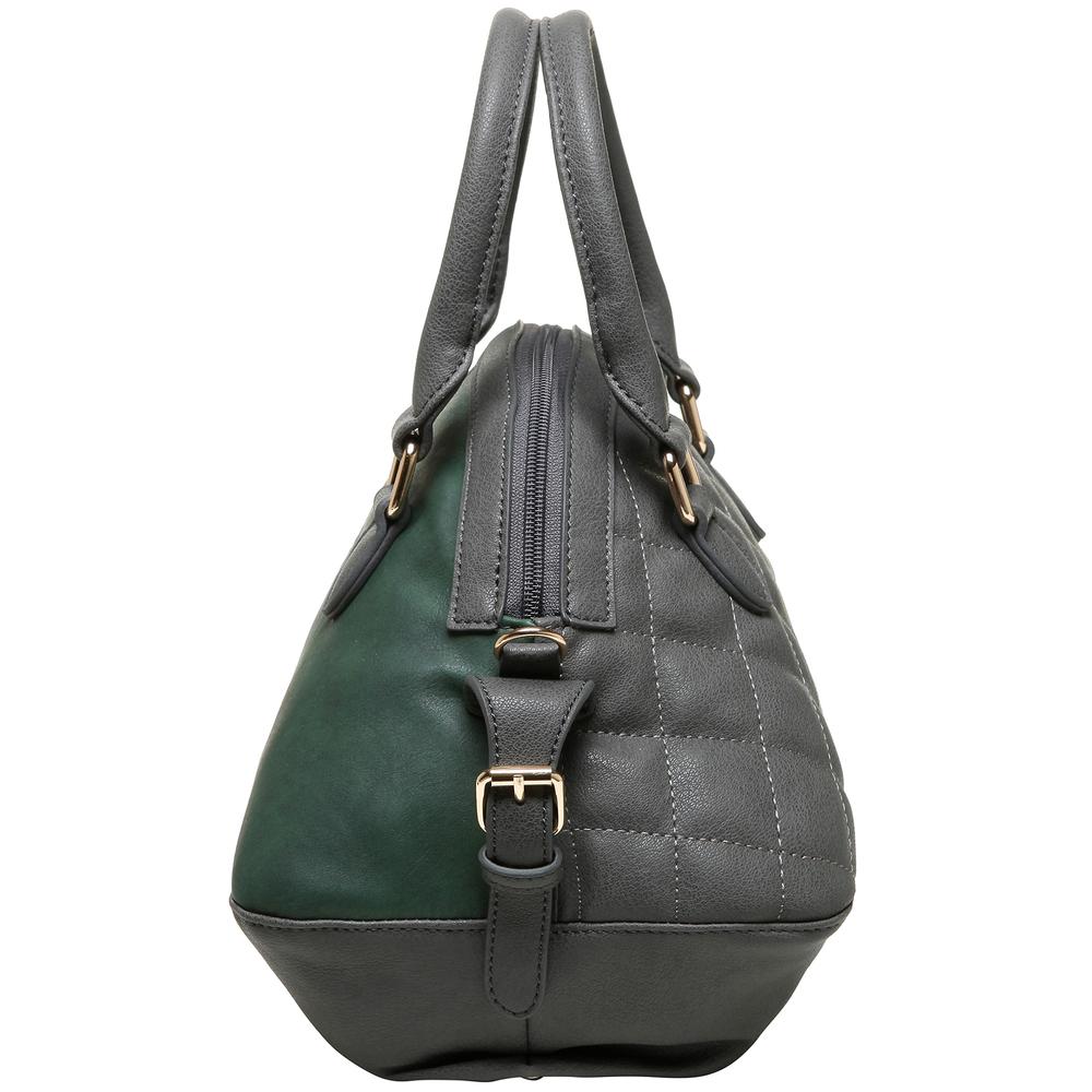 Imani gray womens designer satchel handbag side image