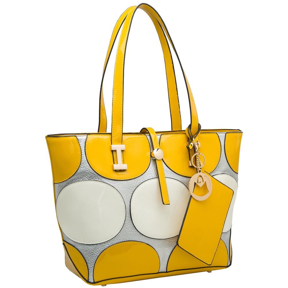 April Yellow Retro Top Handle Designer Handbag main image