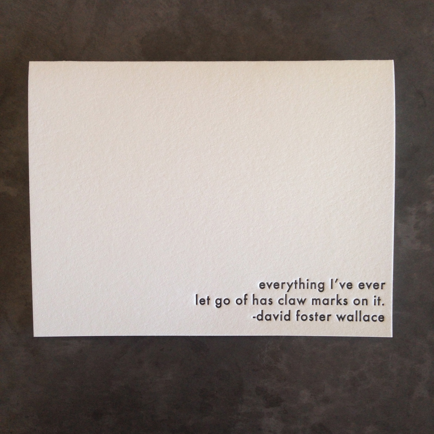 David Foster Wallace Quote — willowcrest press
