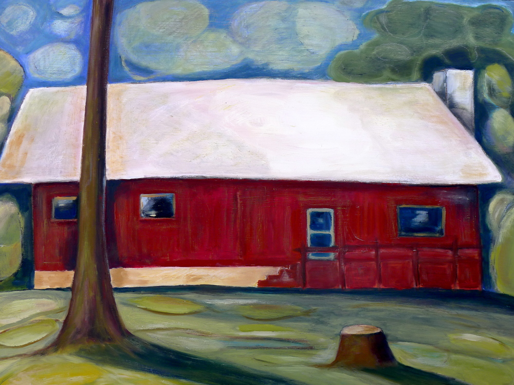 """I Lived Here Once oil on panel 24""""x 32"""""""