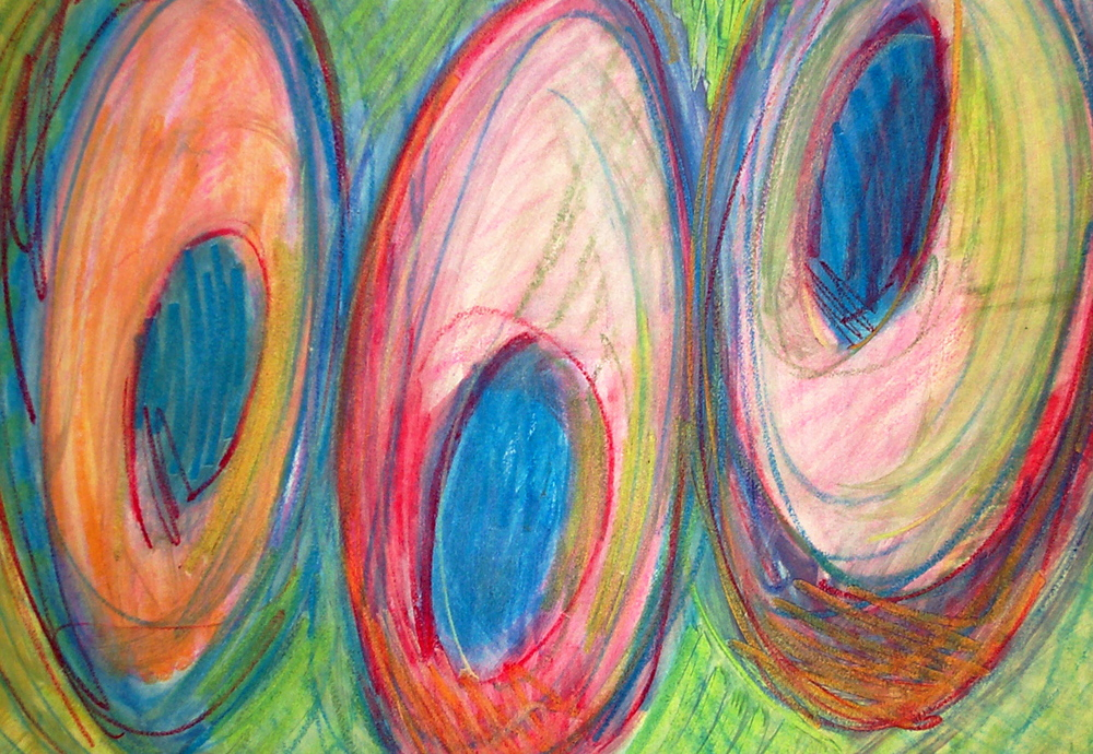 "Untitled    chalk on paper    18""x24"""
