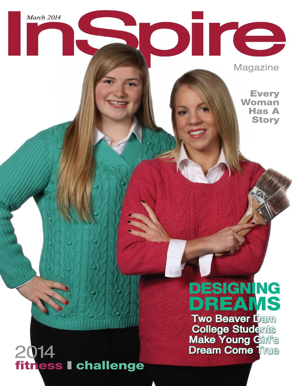 Teal Johnson and Lauren Curwick featured on the cover of InSpire, March 2014.