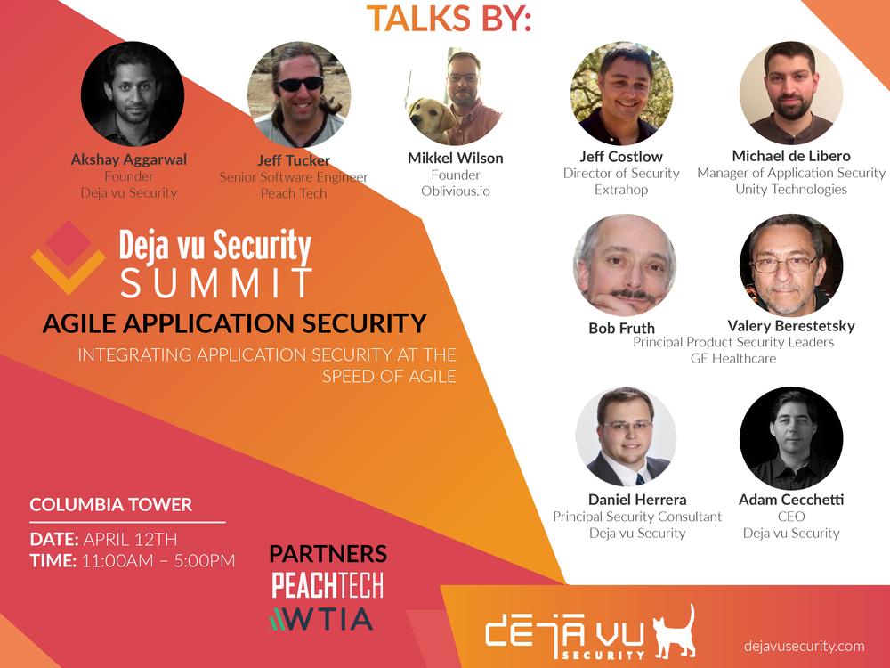 Deja vu Security Agile Security Summit Seattle