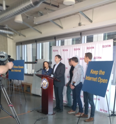 Senator Maria Cantwell press conference on net neutrality