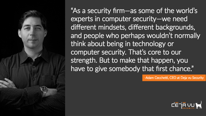 Adam Cecchetti Deja vu Security Organizational Culture quote 2