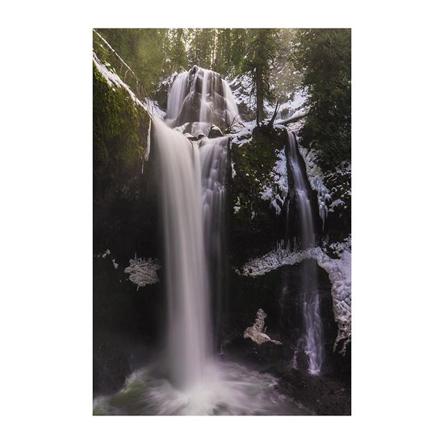 Yesterday at the falls. Taken courtesy of a chunk of ice turned tripod. @eddiebauer #ebcontributor #liveyouradventure • • • • • #hiking #hike #outdoors #camping #hikingadventures #mountain #trekking #wilderness #backpacking #getoutside #forest #outdoor #optoutside #rei1440project #welltraveled #instanature #thegreatoutdoors #mountainlife #waterfall #summit #trees #pnw #washington #outdoorlife #hiker #findyourownadventure #theoutbound