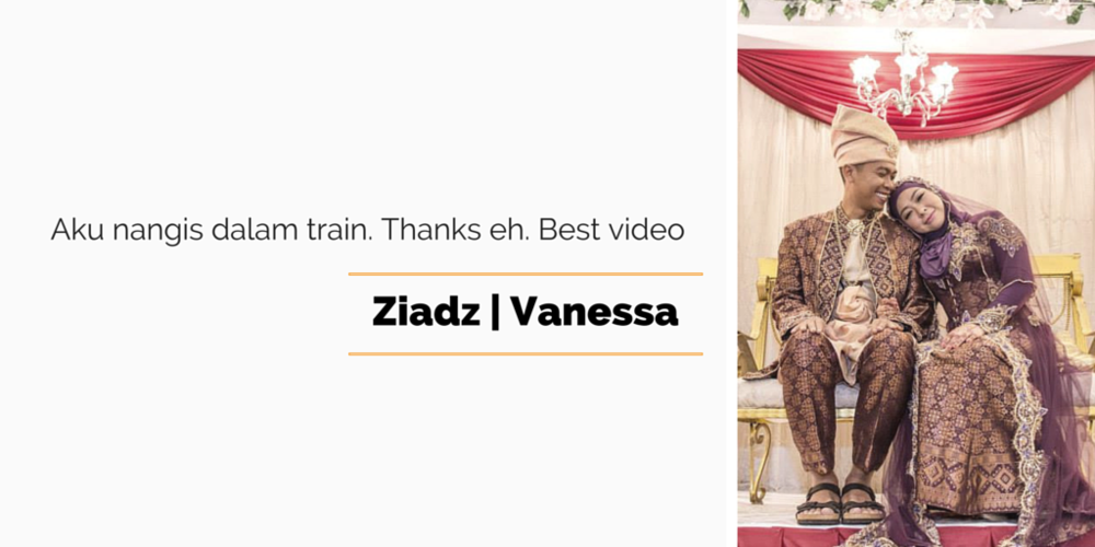 what they say about Orangefill wedding video services