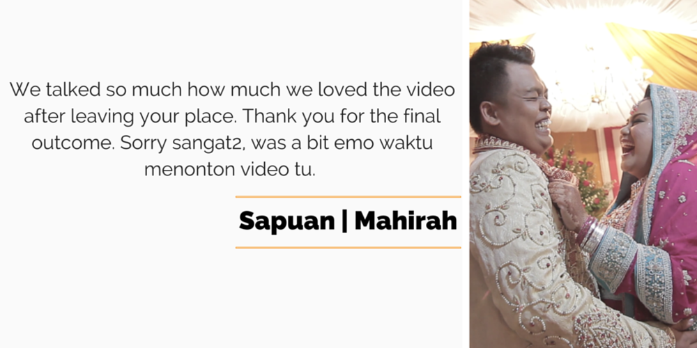 Singapore malay wedding video services reviews